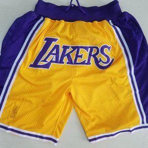 La Lakers Gold Shorts Just Don Basketball Shorts